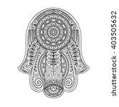 vector hand drawn hamsa with... | Shutterstock .eps vector #403505632