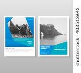 brochure leaflet. annual report.... | Shutterstock .eps vector #403513642