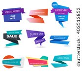 banners collectoin. website... | Shutterstock .eps vector #403513852