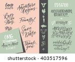 vector alphabet. hand drawn... | Shutterstock .eps vector #403517596