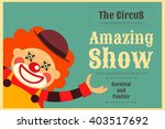 Circus Poster In Vintage Style...