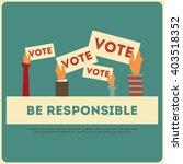 presidential election voting... | Shutterstock .eps vector #403518352