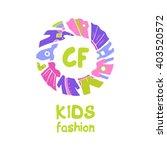vector logo for kids fashion.... | Shutterstock .eps vector #403520572