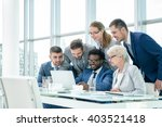 business people at meeting in... | Shutterstock . vector #403521418