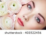 portrait of beautiful young... | Shutterstock . vector #403522456