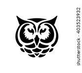 stylized owl head. silhouette... | Shutterstock .eps vector #403523932