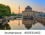 Sunrise at Museum Island and Berlin TV Tower, Berlin, Germany