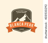 vintage badge mountain nature | Shutterstock .eps vector #403533292