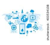 technology futuristic... | Shutterstock .eps vector #403534108