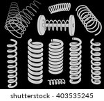 springs clip art | Shutterstock .eps vector #403535245