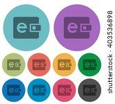 color e wallet flat icon set on ...