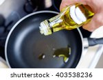 dripping pan  olive oil and... | Shutterstock . vector #403538236