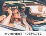 on the road together. side view ... | Shutterstock . vector #403541752