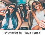just fun and road ahead. four... | Shutterstock . vector #403541866