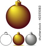 gold and silver christmas bulbs ... | Shutterstock .eps vector #40355083
