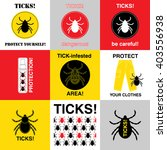 Vector Insect Tick Set....