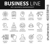 thin line icons set of business ... | Shutterstock .eps vector #403558948