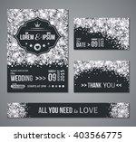 set of wedding invitation cards ... | Shutterstock .eps vector #403566775