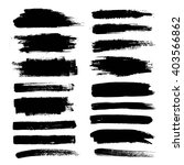 set of black paint  ink brush... | Shutterstock .eps vector #403566862