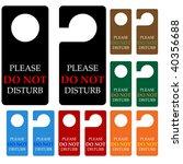 do not disturb  vector | Shutterstock .eps vector #40356688