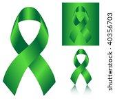 green ribbon | Shutterstock . vector #40356703