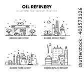modern petrol industry thin... | Shutterstock .eps vector #403573126