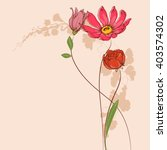 vector flowers. floral greeting ... | Shutterstock .eps vector #403574302