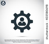 man and cog  icon | Shutterstock .eps vector #403580698