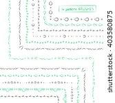 set of geometric ethnic green... | Shutterstock .eps vector #403580875