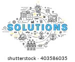 flat style  thin line art... | Shutterstock .eps vector #403586035