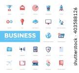 set pf modern vector business... | Shutterstock .eps vector #403588126