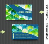 business card template with... | Shutterstock .eps vector #403588156