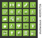 fitness icons set   set of... | Shutterstock .eps vector #403591726