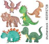 sea animals watercolor... | Shutterstock . vector #403592728
