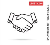 line icon    handshake | Shutterstock .eps vector #403595218