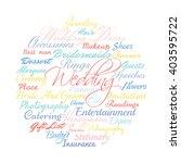 wedding planning related words vector cloud stock vector royalty