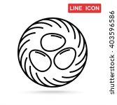line icon  nest   Shutterstock .eps vector #403596586