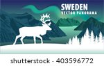 panorama of sweden fjord with... | Shutterstock .eps vector #403596772