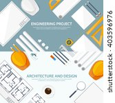 engineering and architecture... | Shutterstock .eps vector #403596976