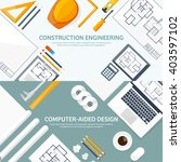 engineering and architecture... | Shutterstock .eps vector #403597102
