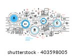 flat style  thin line art... | Shutterstock .eps vector #403598005
