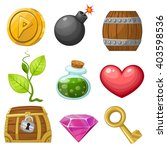 resource icons for games. ... | Shutterstock .eps vector #403598536