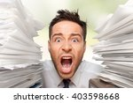 emotional stress. | Shutterstock . vector #403598668