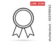 line icon  medal | Shutterstock .eps vector #403598962