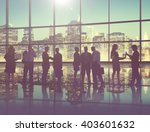 silhouette business people... | Shutterstock . vector #403601632