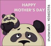greeting card for mother's day. ... | Shutterstock .eps vector #403602556