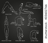 yoga pose set vector... | Shutterstock .eps vector #403602766