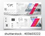 vector set of tri fold... | Shutterstock .eps vector #403603222