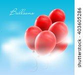 vector illustration of balloons ... | Shutterstock .eps vector #403605286