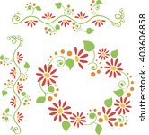 colorful floral border and frame | Shutterstock .eps vector #403606858
